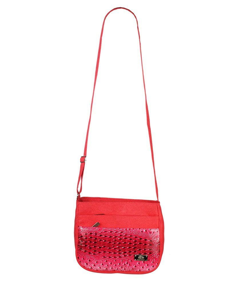 Fristo Pink P.U. Sling Bag