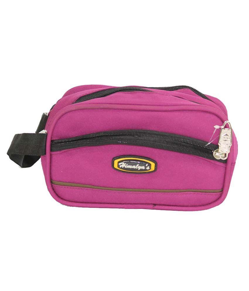 Himalyas Purple Non Leather Travel Kit Bag