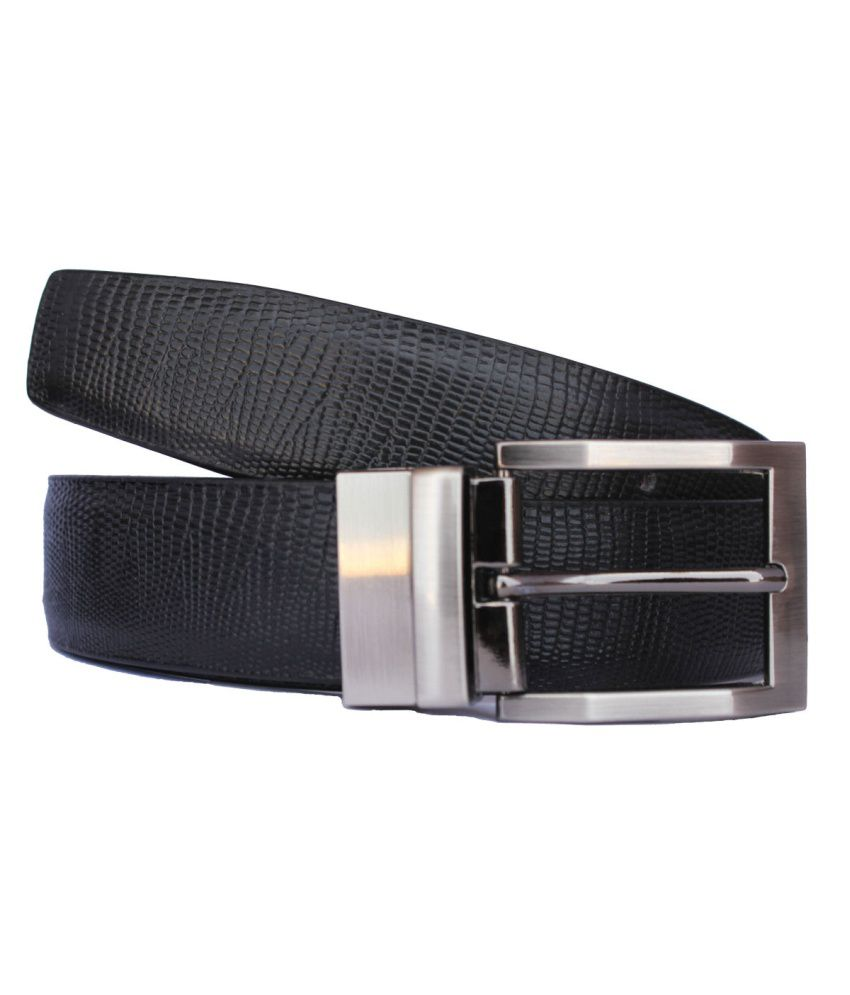 Discover Fashion Black PU Leather Belt