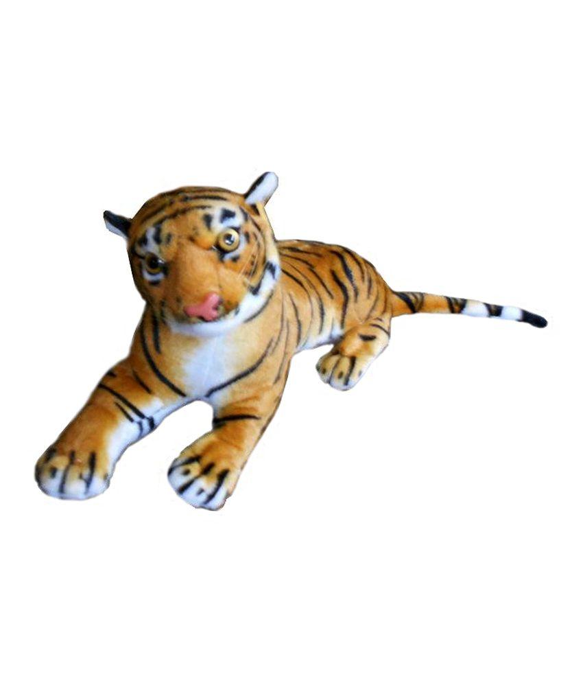 Gng Cute Tiger Baby Yellow Fiber Fur Stuffed Animal 12 Cm