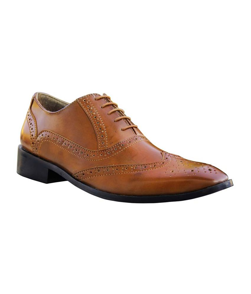 Moladz Tan Formal Shoes