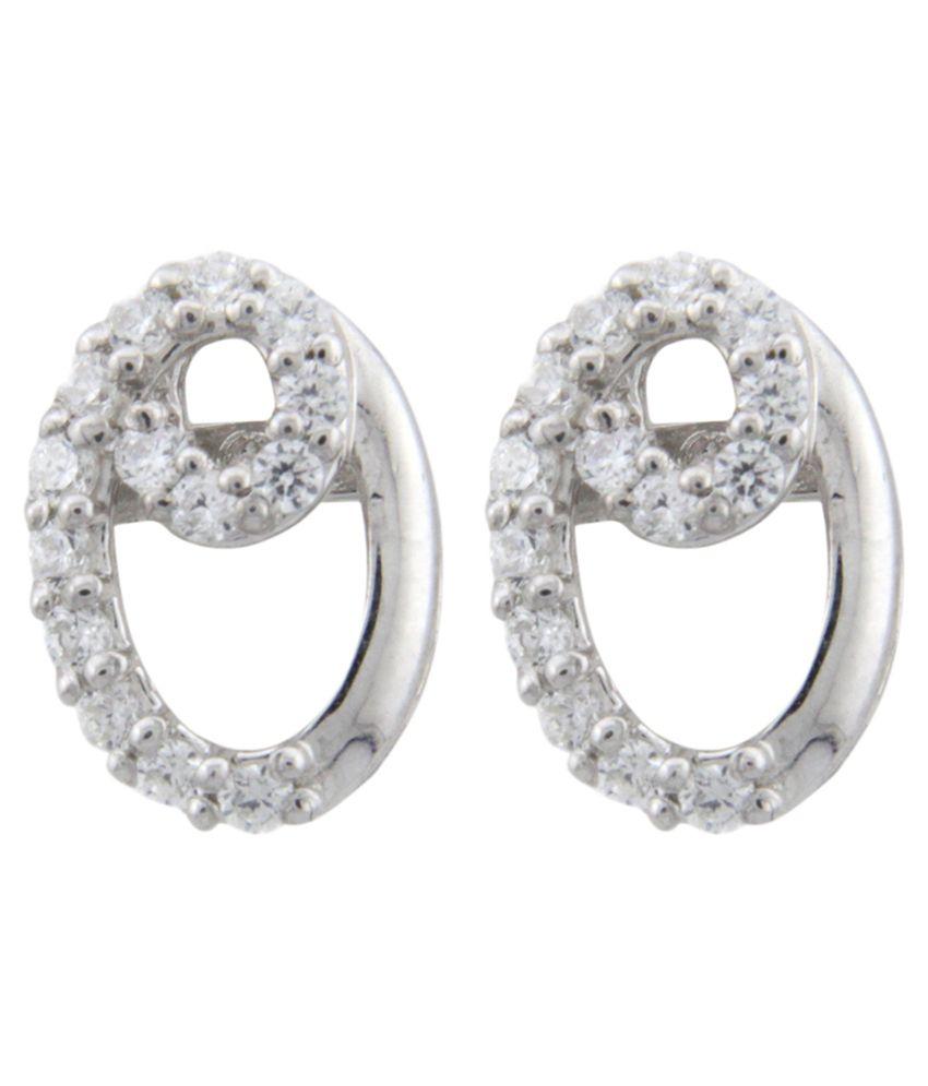 Treta Silver Alloy Floral Designer Earrings