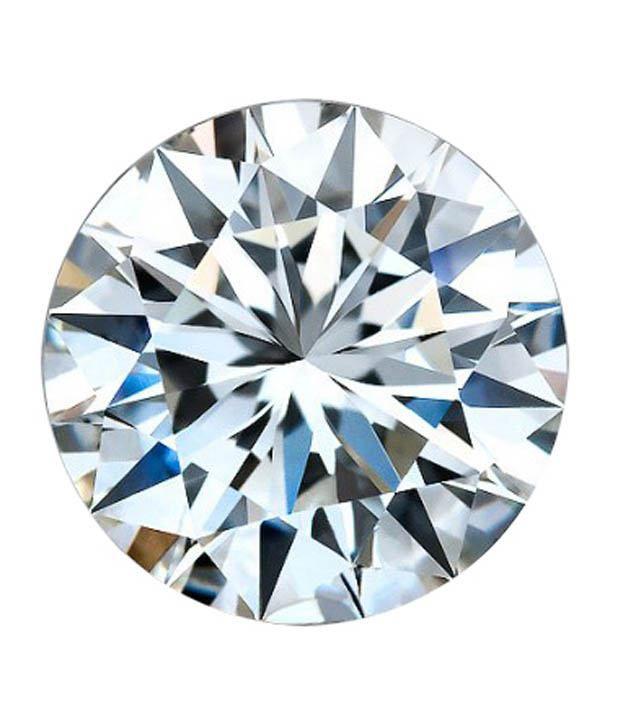 WHITE MACHINE CUT LAB CREATED DIAMOND 1.30 MM ROUND H&A -1000 pcs lot