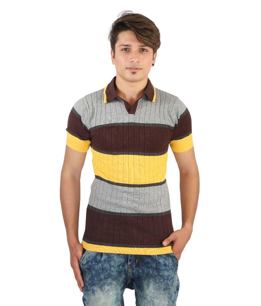 IGS Multicolor Cotton T-Shirt