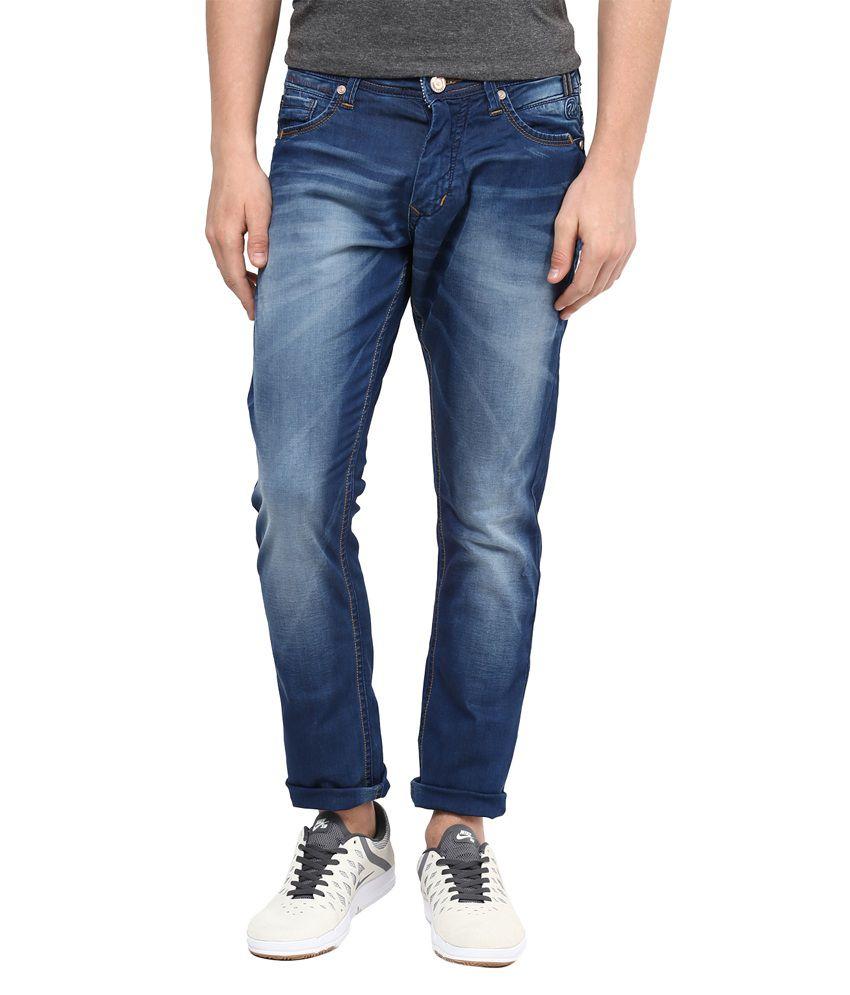 Urban Navy Blue Slim Fit Jeans