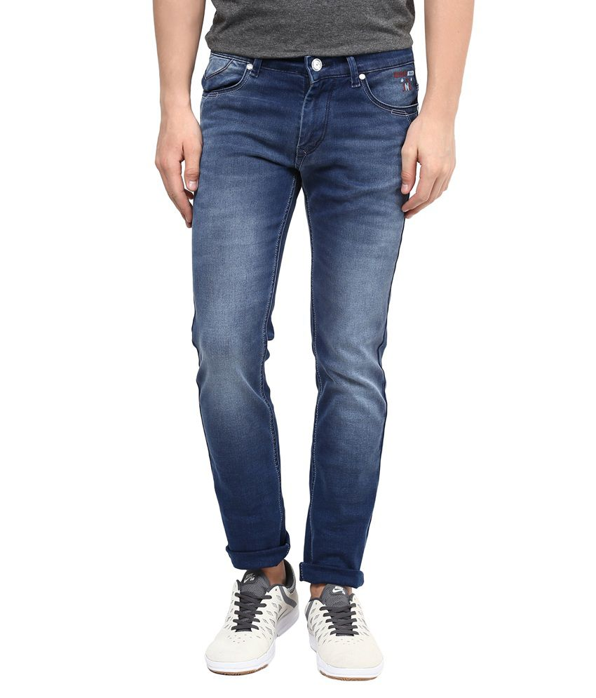 Urban Navy Blue Slim Fit Jeans
