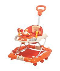Mee Mee Baby Walker cum Rocker with Adjustable Height_Orange