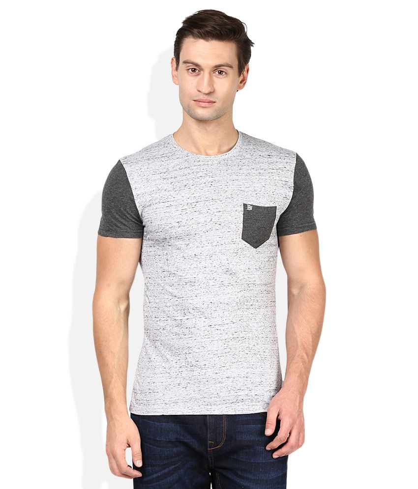 Being Human Grey Round Neck Basics T-Shirt