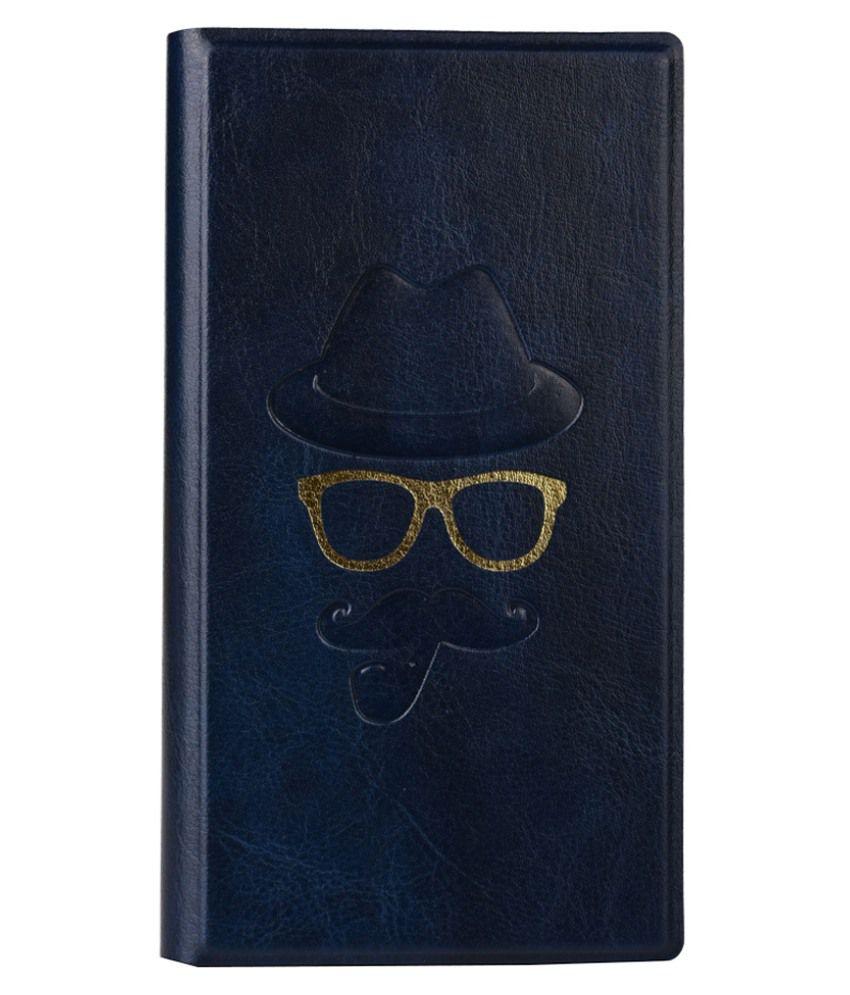 Jo Jo Cover Moustache Series Leather Flip Case For Oppo Find 5 Dark Blue