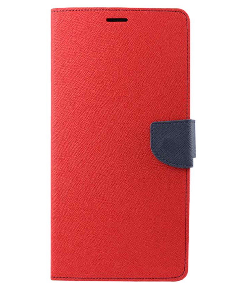 Celphy Flip Cover for Apple iPhone 6 Plus - Red