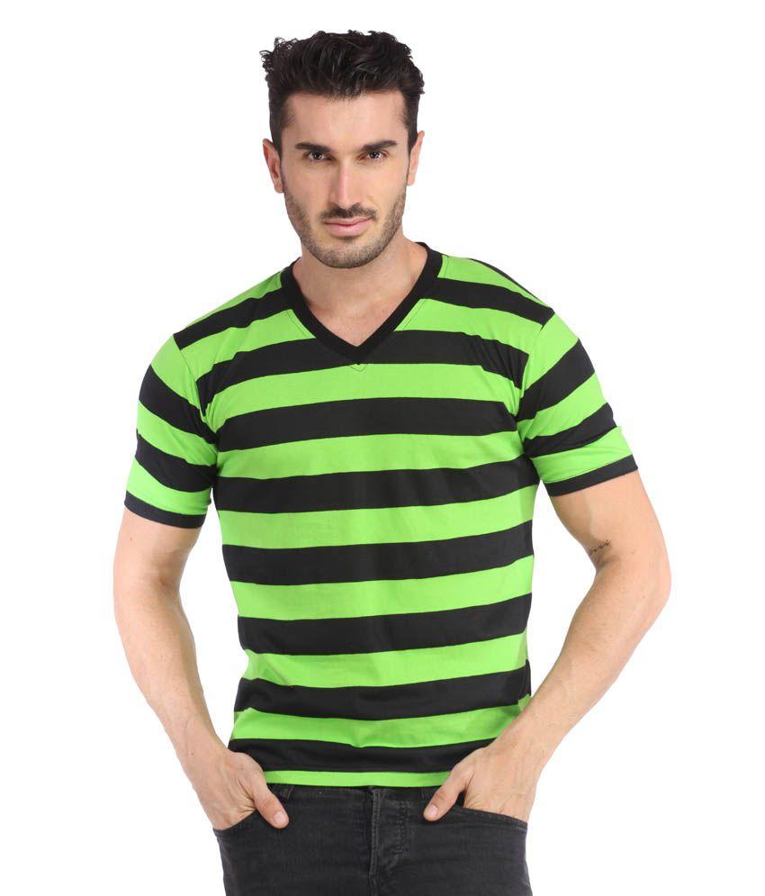 Leana Green Cotton T-shirt