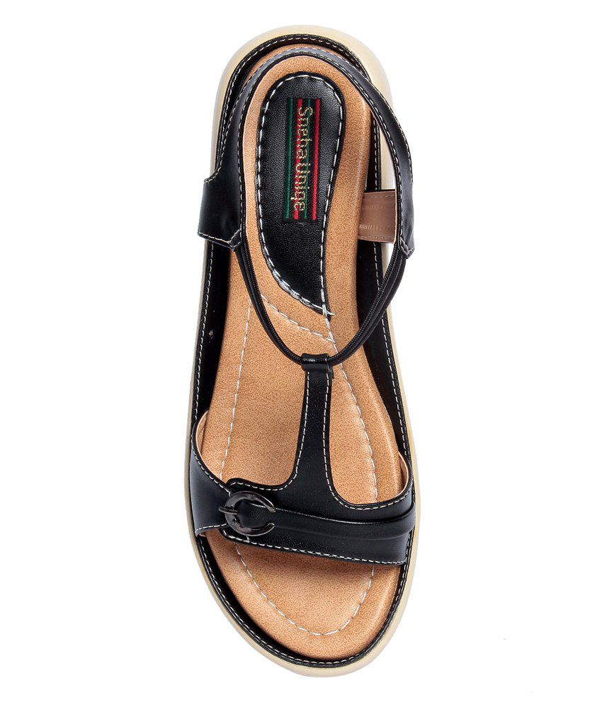 89c6509c2039 Sneha Unique Black Sandals Price in India- Buy Sneha Unique Black Sandals  Online at Snapdeal