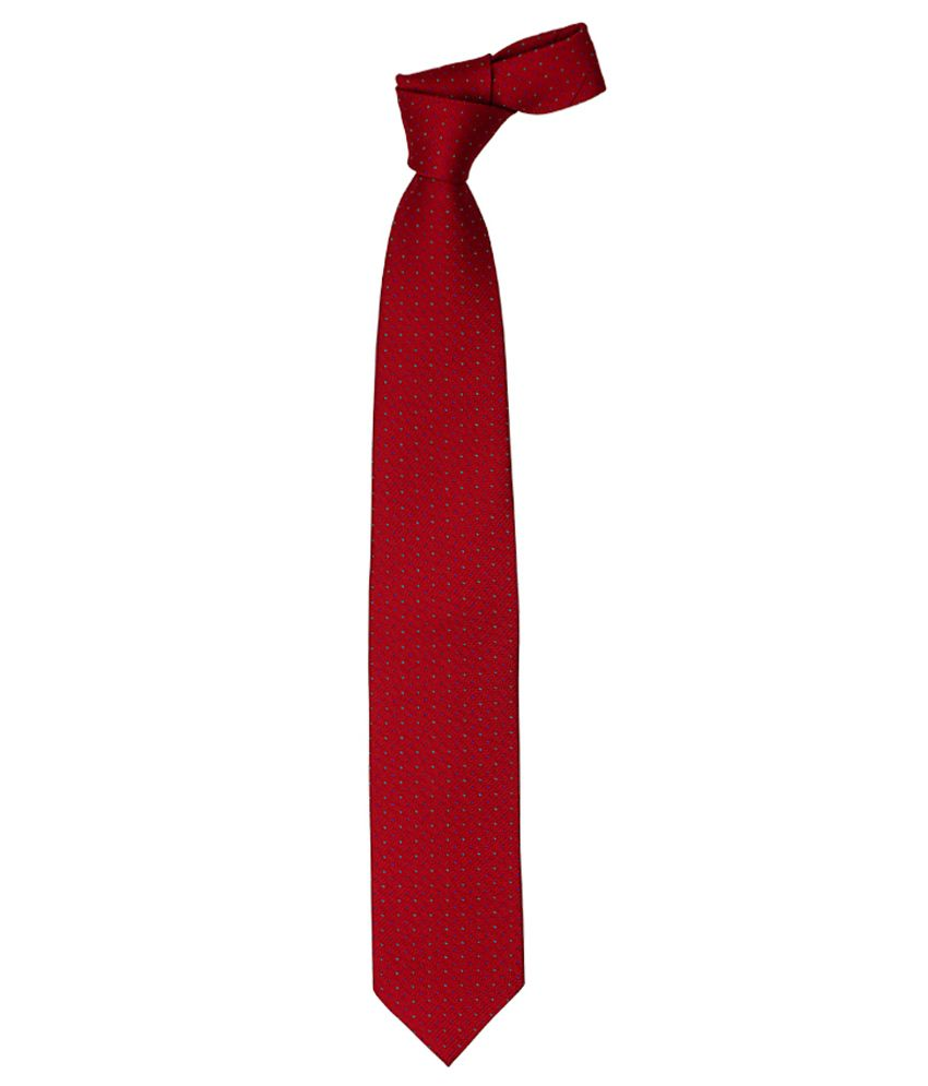 Vermello Red Dots Formal Broad Tie