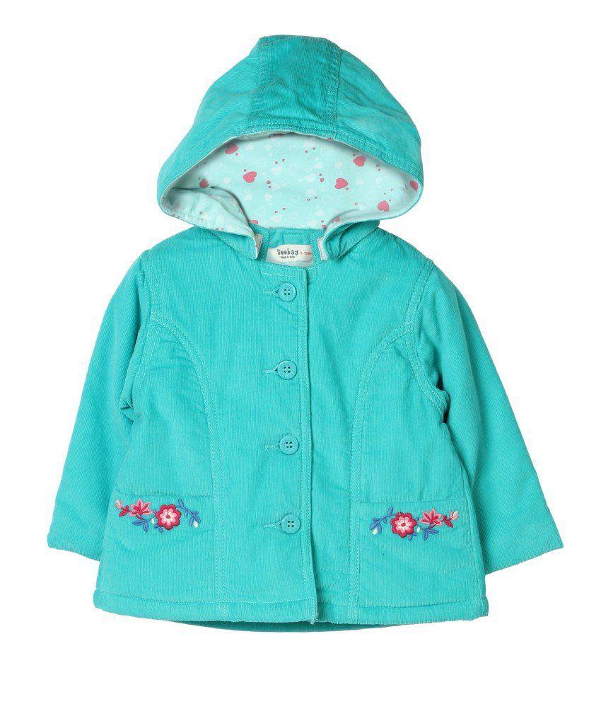 Beebay Turquoise Cotton Winter Jacket