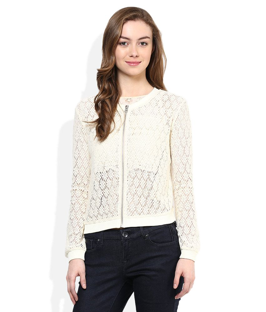 88deb905259 Buy Madame White Round Neck Bomber Jackets Online at Best Prices in India -  Snapdeal