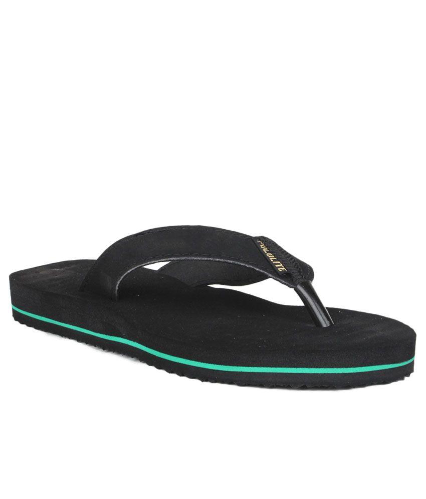 11e Black Slippers