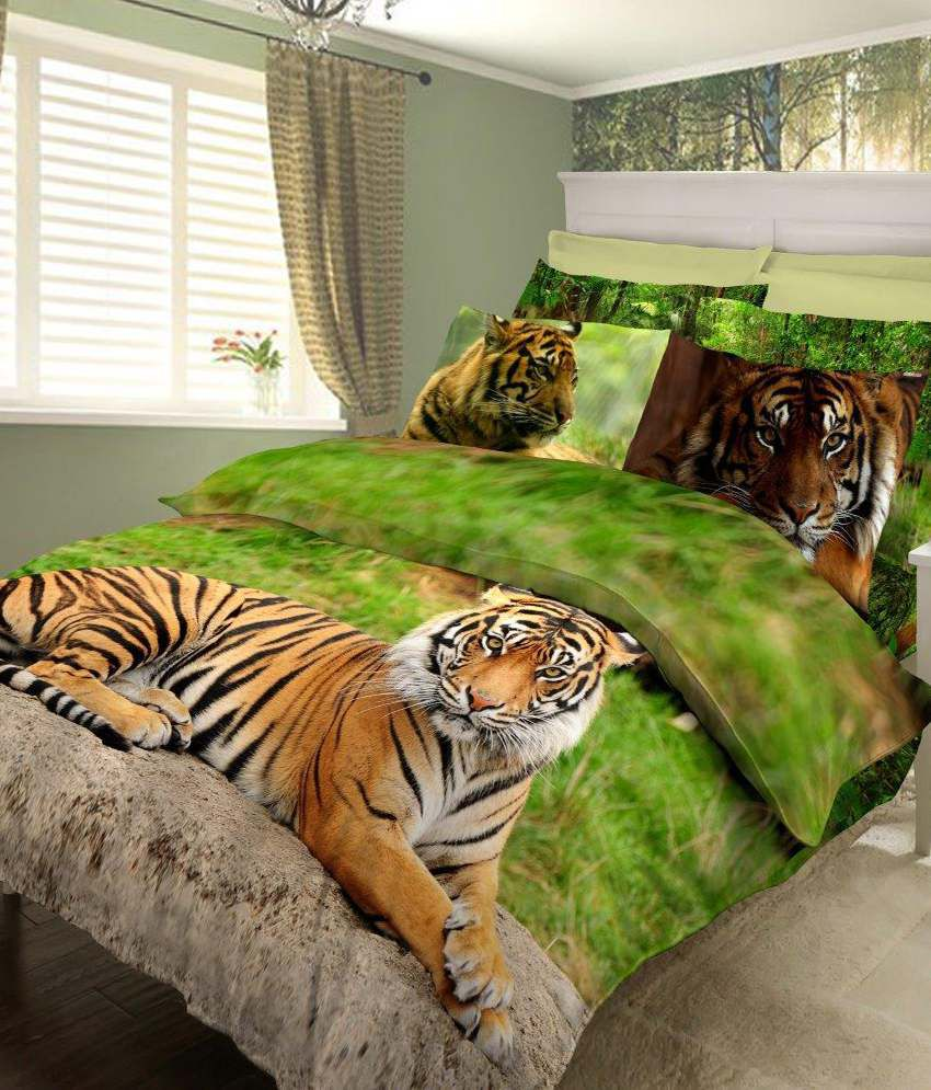 Bombay Dyeing Jungle Safari Green Double Bed