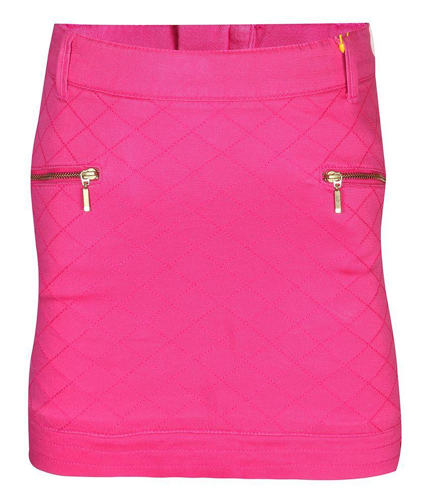 Gini & Jony 100% COTTON Pink SKIRT For Kids