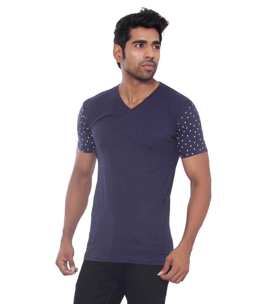 Osho Fashion Concepts Blue Cotton T-Shirt