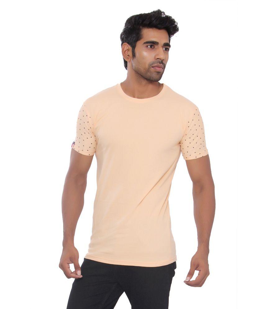 Osho Fashion Concepts Peach Puff Cotton T-Shirt