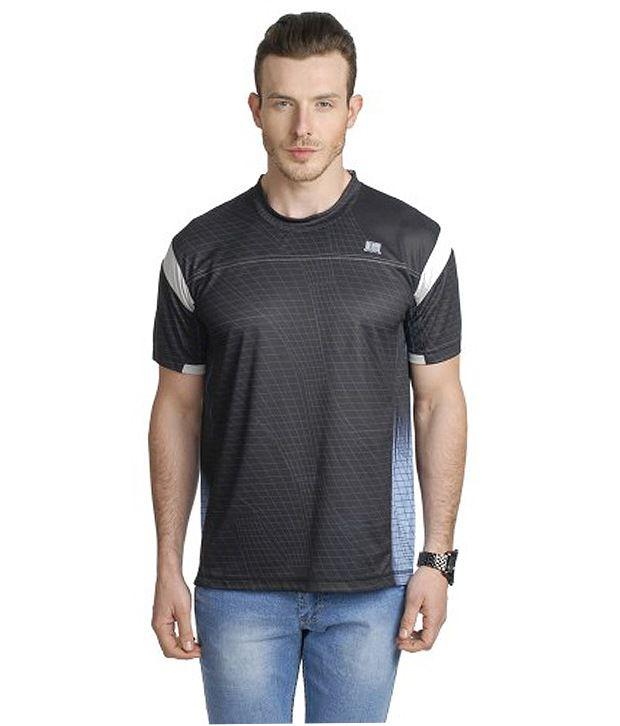 T10 Sports Gray Zing Stripe T-Shirt