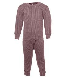 Babeezworld Gray Wollen Thermal Nightwear