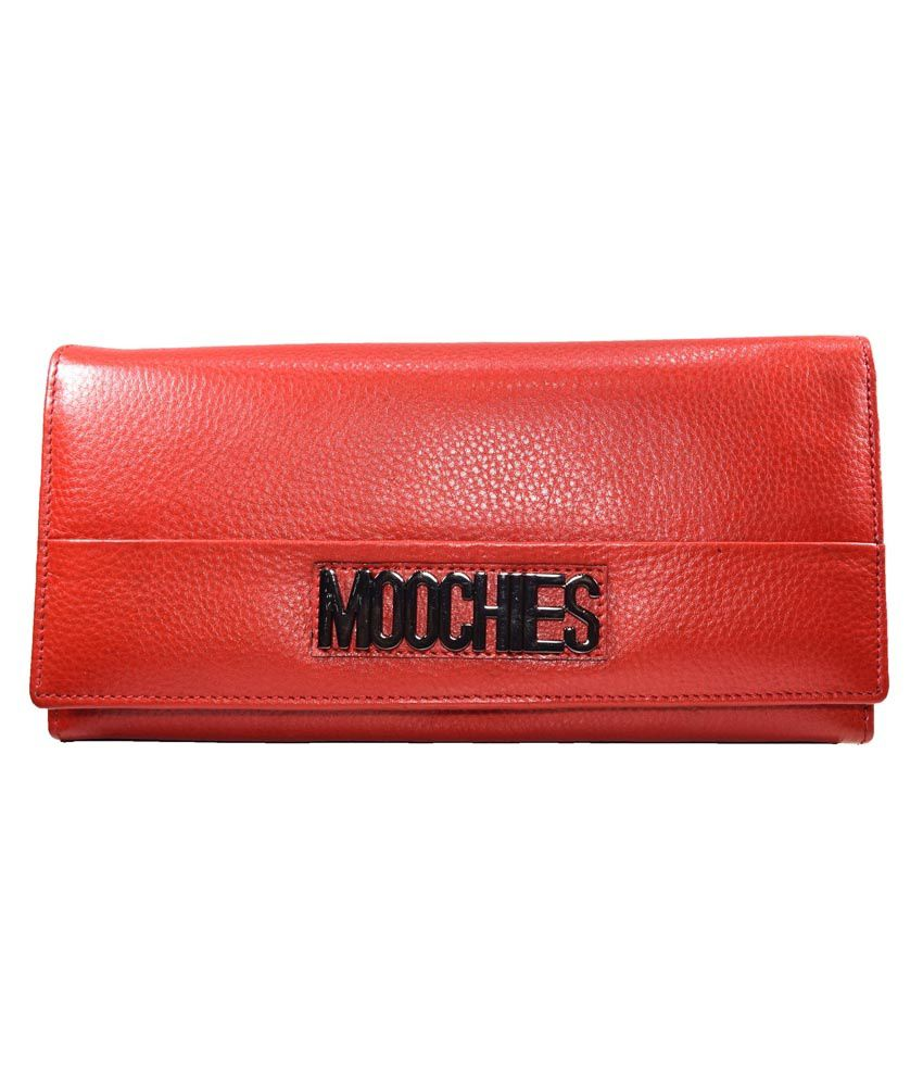 Moochies Red Leather Wallet