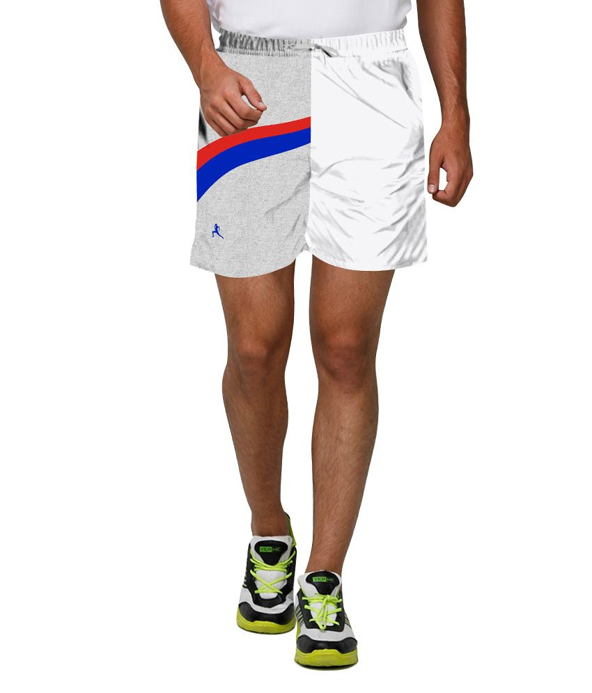 Proplay White Polyester Shorts