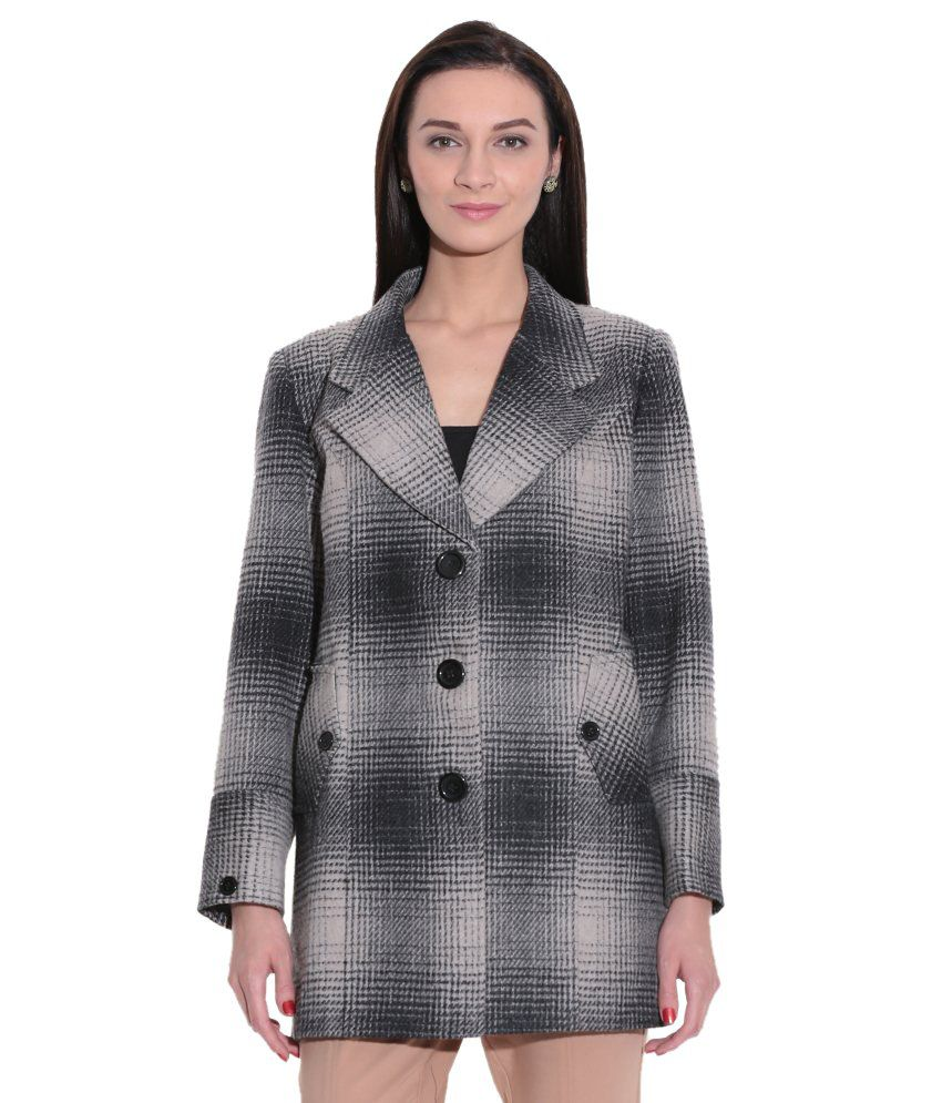 Tribes India Black Tweed Long Jackets