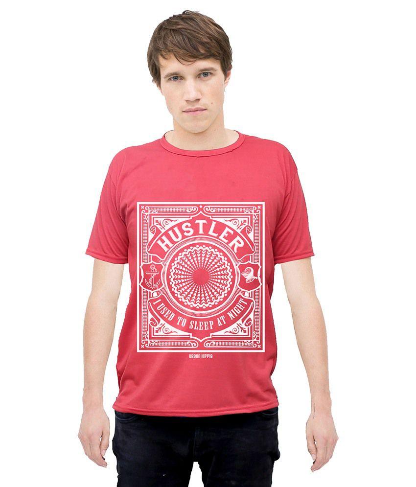 Urban Hippie Red Cotton T-Shirt