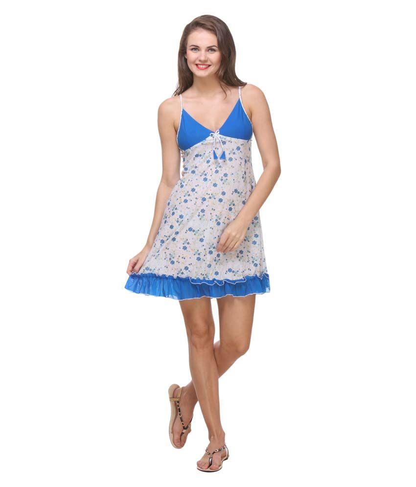 Affair Blue Net Baby Doll Dresses Pack of 2