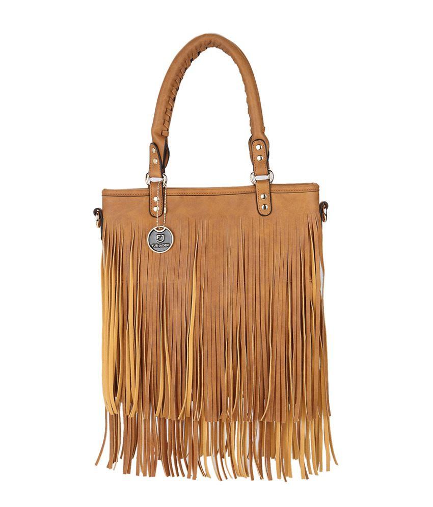 Fur Jaden Tan Tote Bag - Buy Fur Jaden Tan Tote Bag Online at Best Prices  in India on Snapdeal 78e2d77ef8