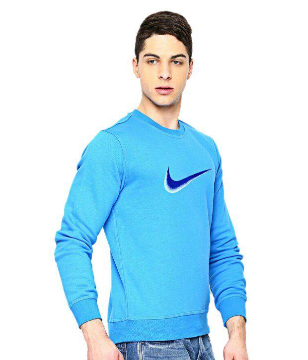 8f1e23e7 Nike Blue Solid Full Sleeves Sweatshirt - Buy Nike Blue Solid Full ...