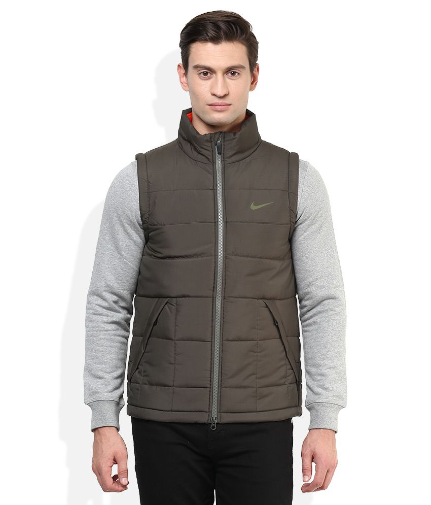 bda1bf1c0d5f1 Nike Green Sleeveless Jacket - Buy Nike Green Sleeveless Jacket Online at Low  Price in India - Snapdeal