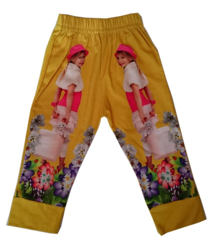 Pink&White Yellow Capri For Boys