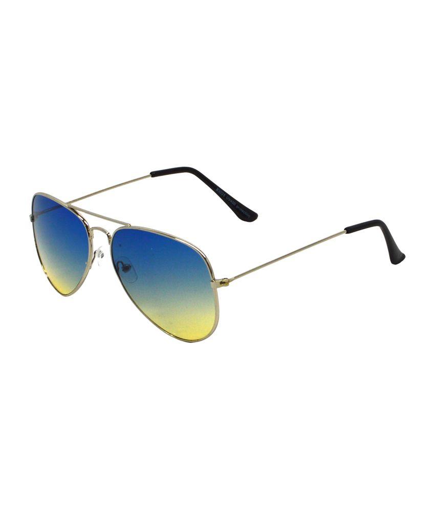 Red Knot Blue Aviator Unisex Sunglasses