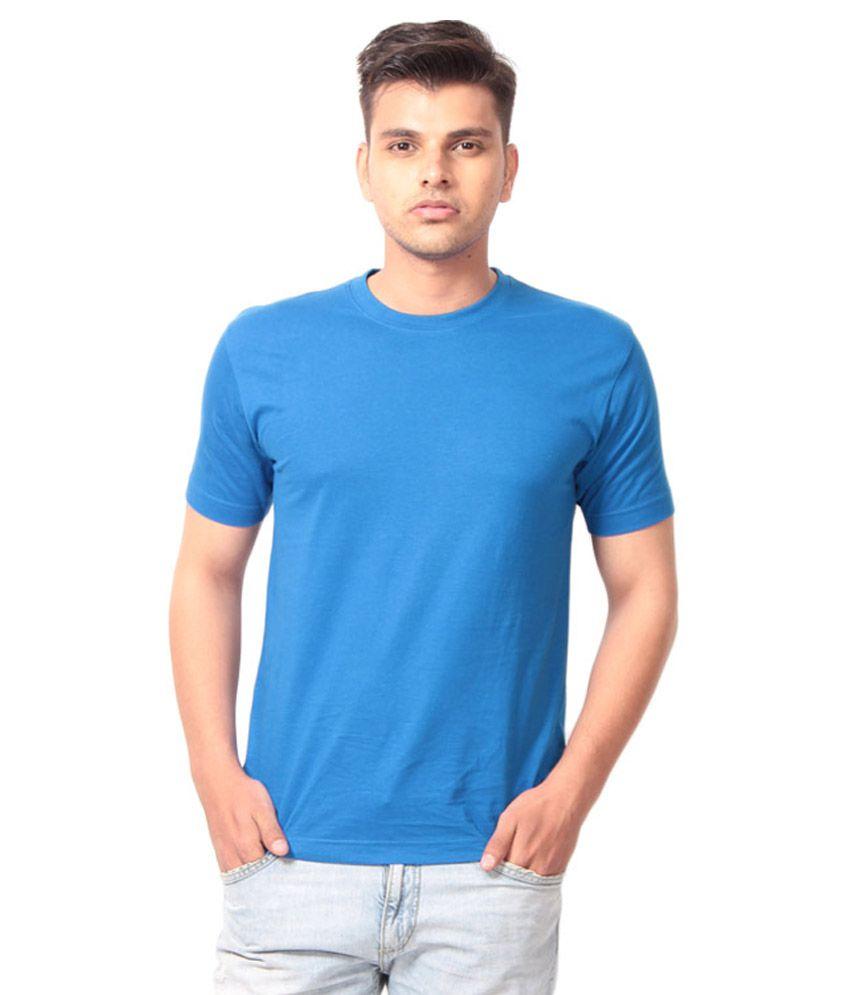 Winson Blue Cotton T-Shirt