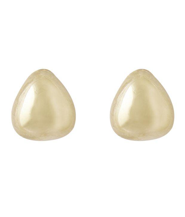 Adour Golden Alloy Stud Earrings