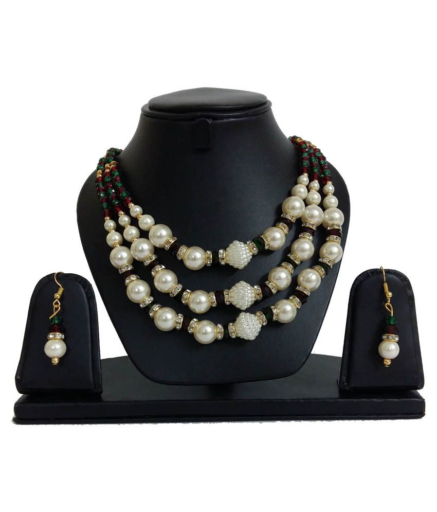 Anant Jewels Multicolour Contemporary Necklace Set