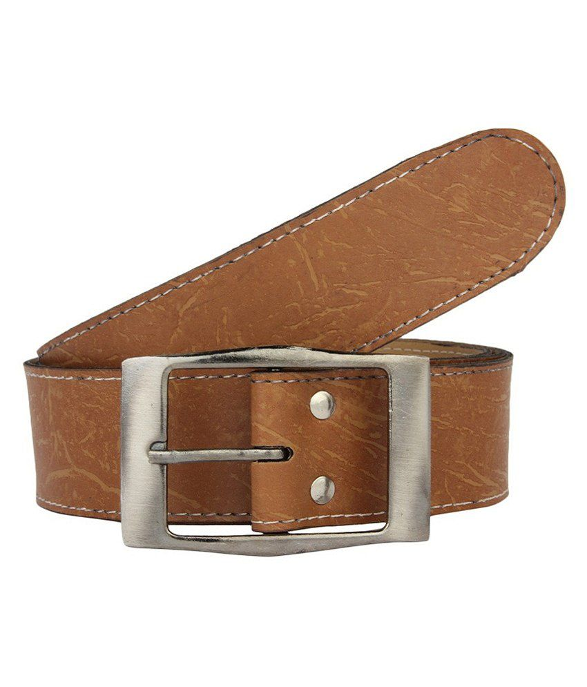 Lime Brown Casual Belt