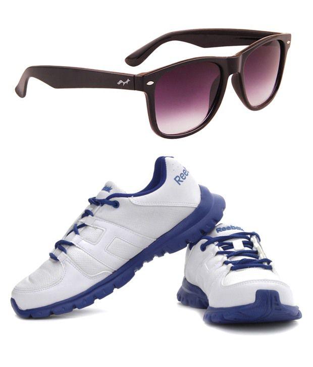 Reebok v63563 Grey Sports Shoes With Wayfarer Sunglasses - Best ... 637b5b42146b5