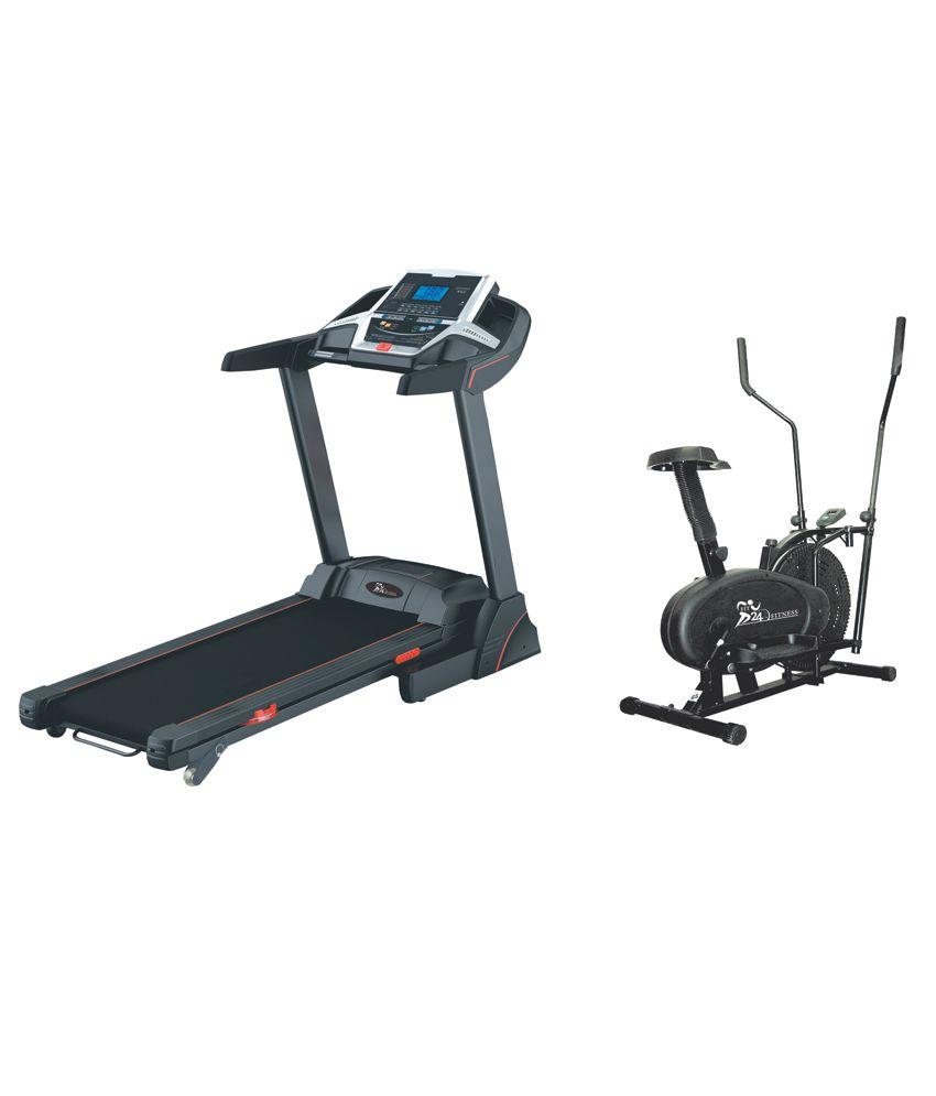 Cybex Treadmill Error 3: Fit24 Fitness Combo Of Motorized Treadmill T-509 With