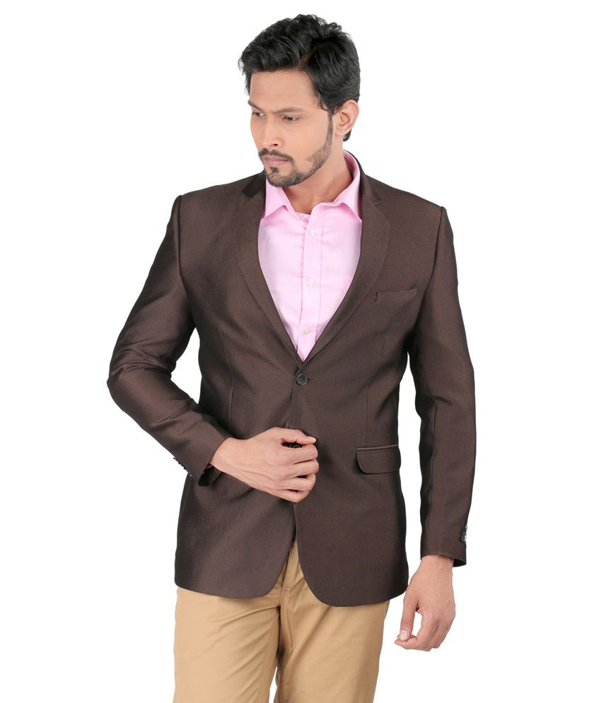 Oxemberg Brown Polyester Blazer