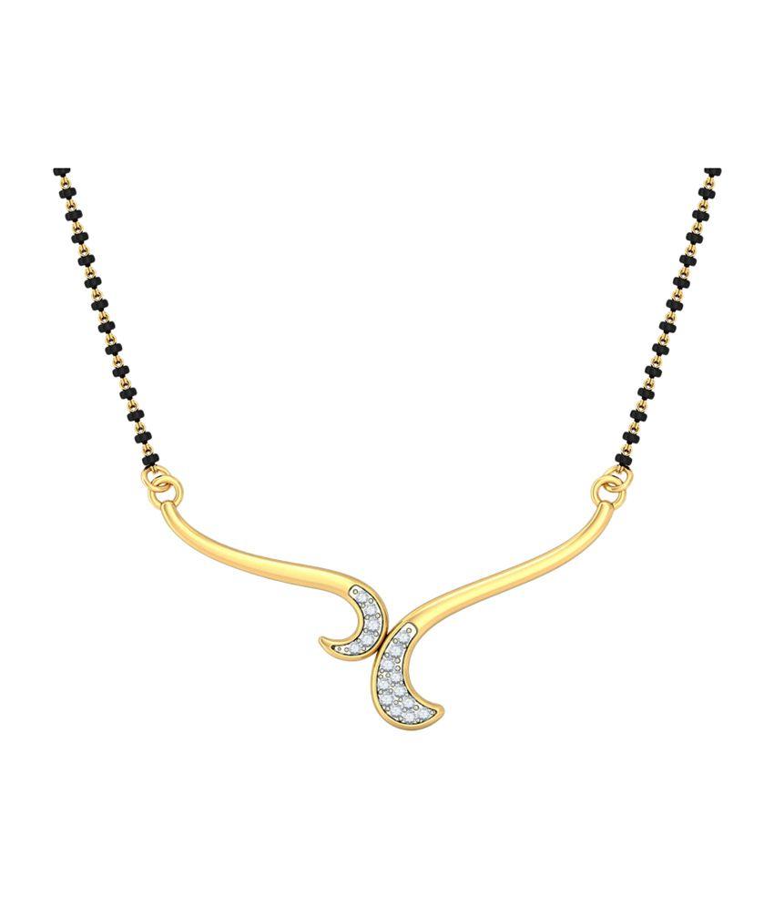Bluestone 18Kt Yellow Gold & Diamond Chandrima Tanmaniya