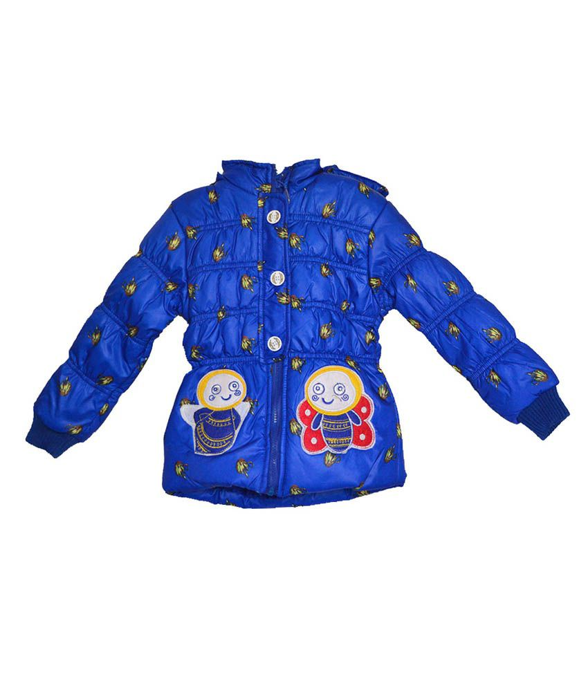 London Girl Stylish Blue Hooded Jacket for Girls