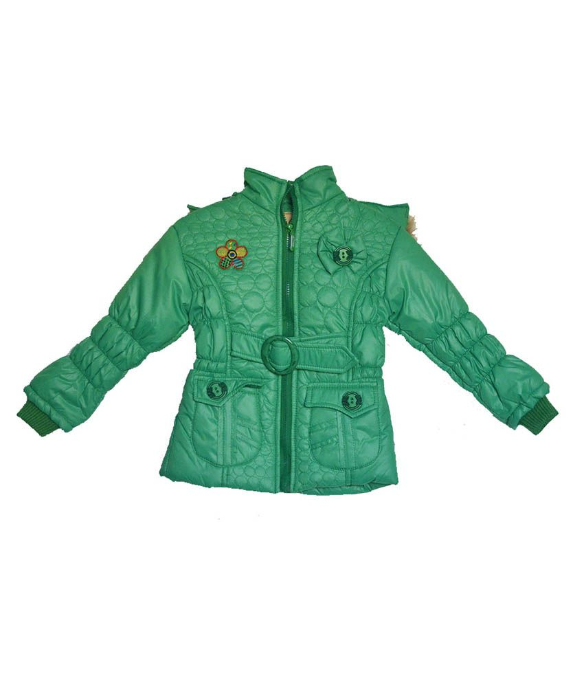 London Girl Green Hooded Jacket for Girls