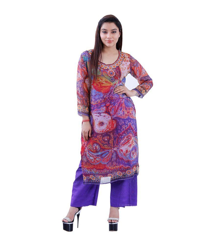 Maurya Mix N Match Multi Chiffon Stitched Kurti