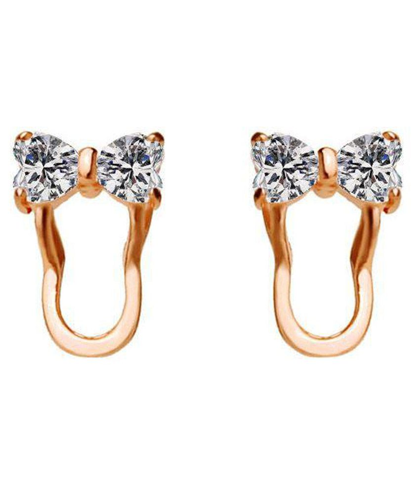 Roma Luxury Bowknot Slipper Swarovski Crystal Stud Earrings