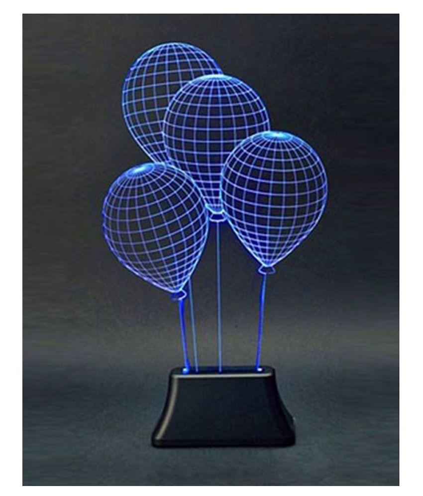 Madzbag 0.5w Multicolour Acrylic Balloon Shap Led Night Lamp