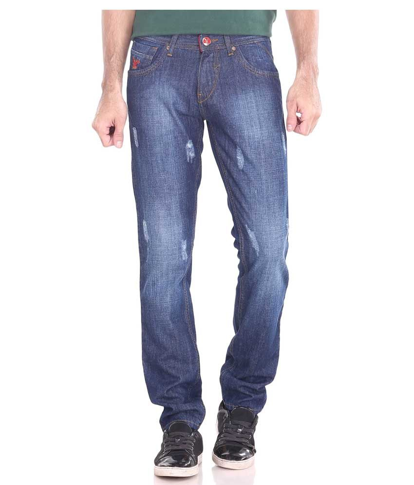 Stagger Polo Blue Regular Fit Jeans